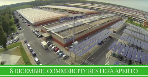 Commercity, centro del commercio all'ingrosso di Roma, resterà aperto in occasione dell'Immacolata