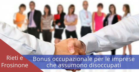 Bonus occupazionale - Commercityblog