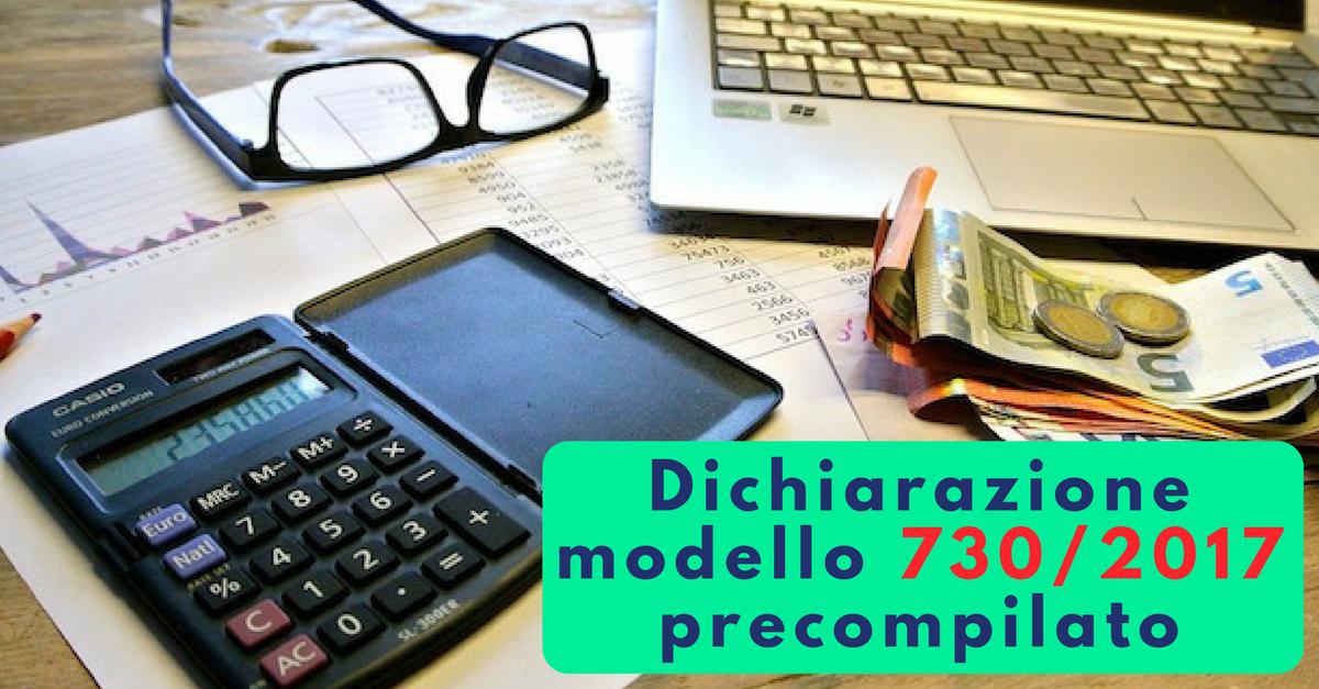 Dichiarazione modello 730 2017 precompilato commercity blog for Novita 730 2017