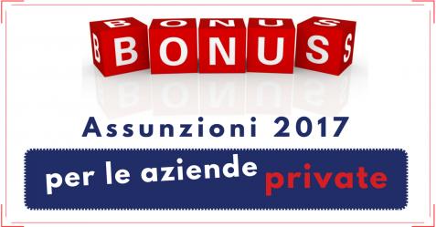 Bonus Assunzioni 2017 - Commercity Blog