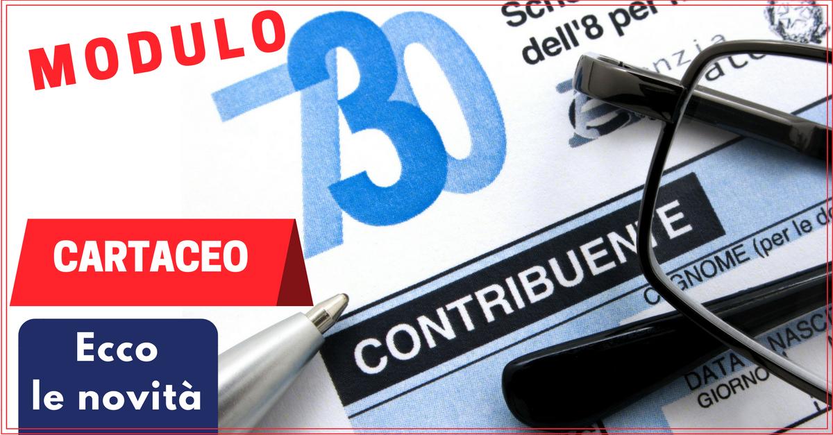 Modulo 730 cartaceo ecco le novit commercity blog for Modulo 730 anno 2017