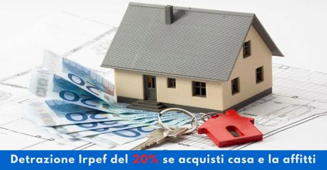 Detrazione Irpef del 20% se acquisti casa e la affitti - Commercity Blog