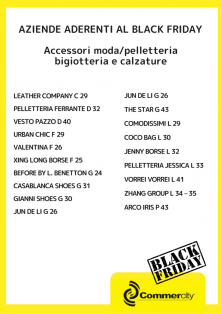 Aziende aderenti al Black Friday di Commercity 2 - Commercity Blog