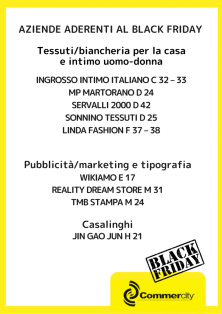 Aziende aderenti al Black Friday di Commercity 4 - Commercity Blog