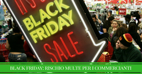 black friday in italia, multe per i commercianti