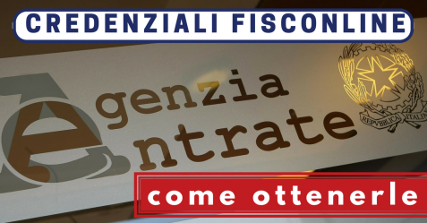 Credenziali Fisconline - Commercity Blog