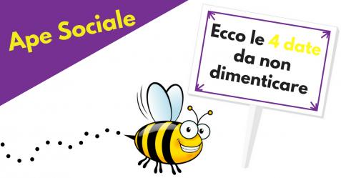 Ape Sociale. ecco le 4 date da non dimenticare - Commercity Blog