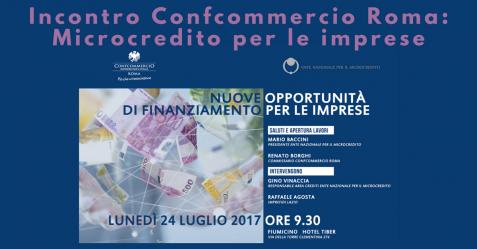 Incontro Confcommercio Roma, Microcredito per le imprese - Commercity