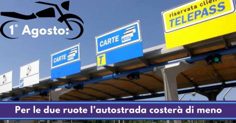 1° Agosto, per le due ruote l'autostrada costerà di meno - Commercity Blog