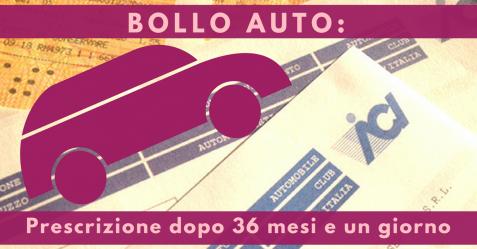 Bollo auto, prescrizione dopo 36 mesi e un giorno - Commercity - Commercity Blog