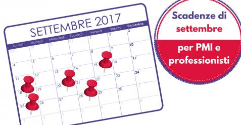 Scadenze di settembre per PMI e professionisti - Commercity Blog