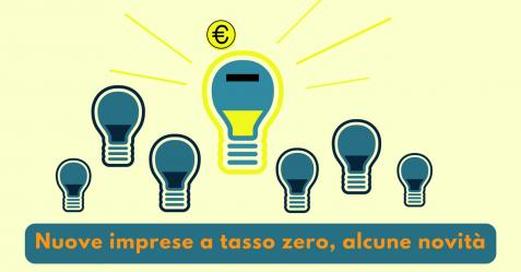 Nuove imprese a tasso zero, alcune novità - Commercity Blog