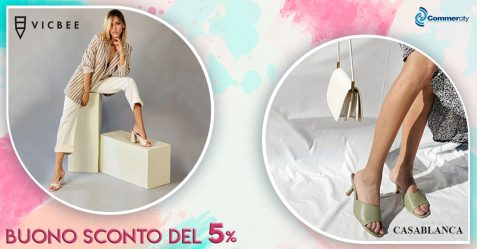 Vic Bee e Casablanca Shoe, Buono sconto del 5% - Commercity Blog