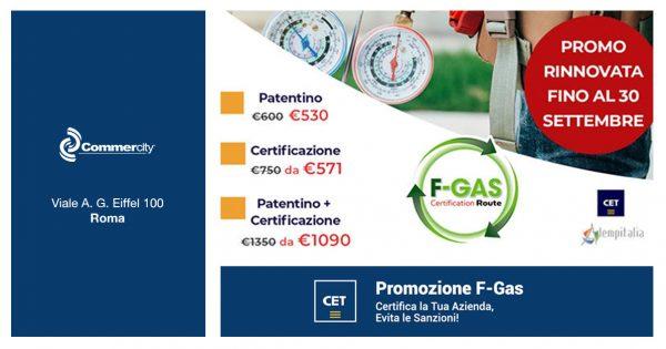 Promo Patentini e Certificazioni F-GAS di CET spa - Commercity Blog