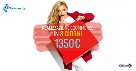 Promo E-Commerce Wikiamo, il tuo sito in 8 giorni - Commercity Blog