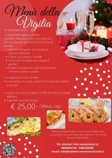 Take away Natale 2020 - Menù Vigilia di Natale e Capodanno - Mediterranea Ricevimenti - Commercity Blog
