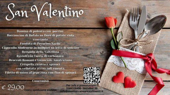 Menù di San Valentino - Mediterranea Ricevimenti - Commercity Blog